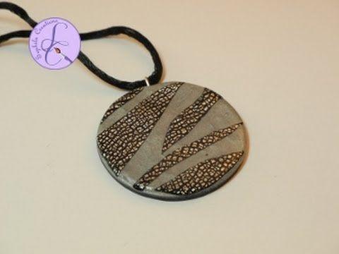 Tutorial: Foglia argento con effetto cracklè su ciondolo in fimo (polymer clay tutorial) [sub-eng]