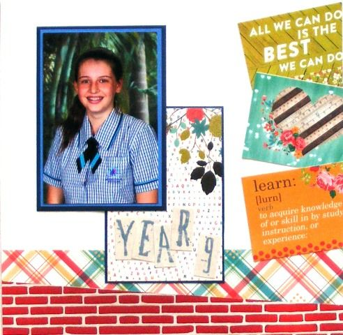 School page created with Webster's Hall Pass collection by Rosemary for My Scrappin' Shop.
