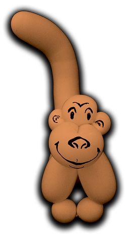 Balloon Monkey (by Jenny's Alchemy)