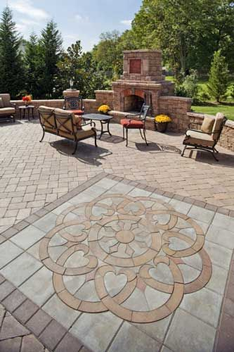 patio design ideas with pavers | ... patio paver design, like artwork, can be inserted into the patio