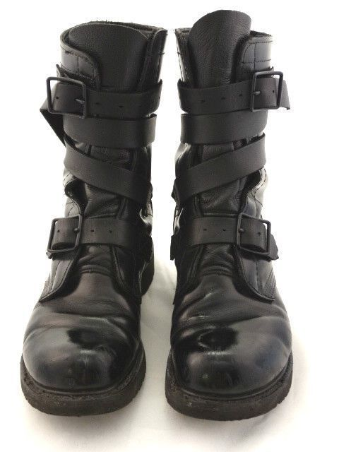 Corcoran  --  Military Tanker Boots  --  Black Leather  --  Men's 8.5D #Corcoran…