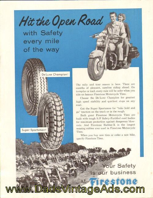 vintage firestone motorcycle tires