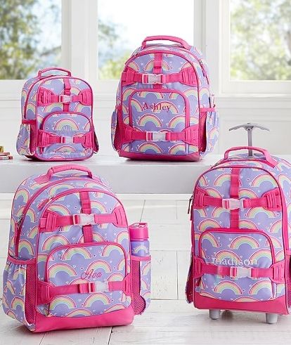 Mackenzie Lavender Rainbow Backpack Girls Bedroom Ideas