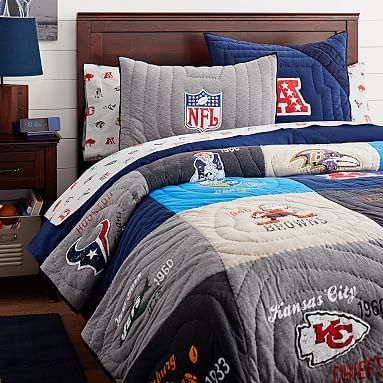 Nfl Historic Quilt Sham Football Rooms Nfl Quilts