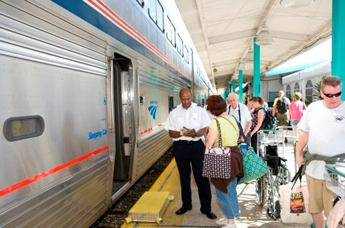 The Amtrak Auto Train - Photos and Tips: Boarding the Train in Sanford, Florida