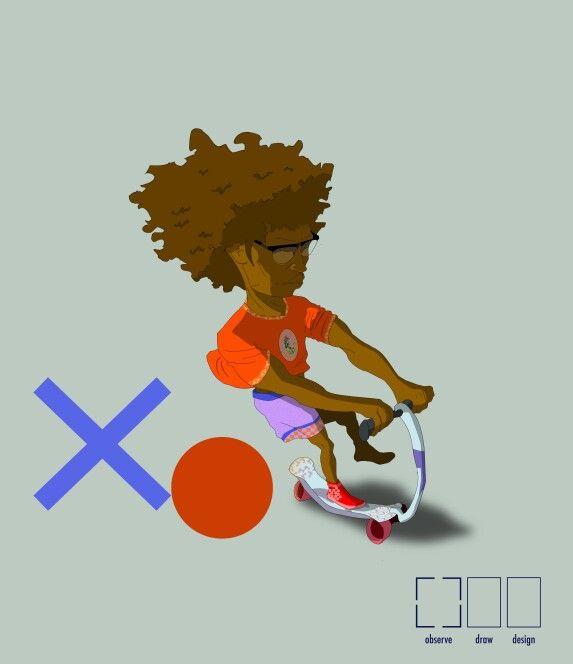 XO - Character by Me (Xolelani Mdima ) observe draw design.