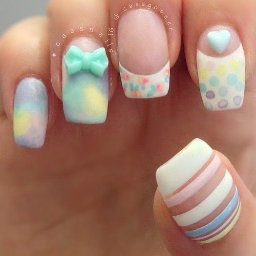 love the pastels...must hurry and do this before summer ends!!!