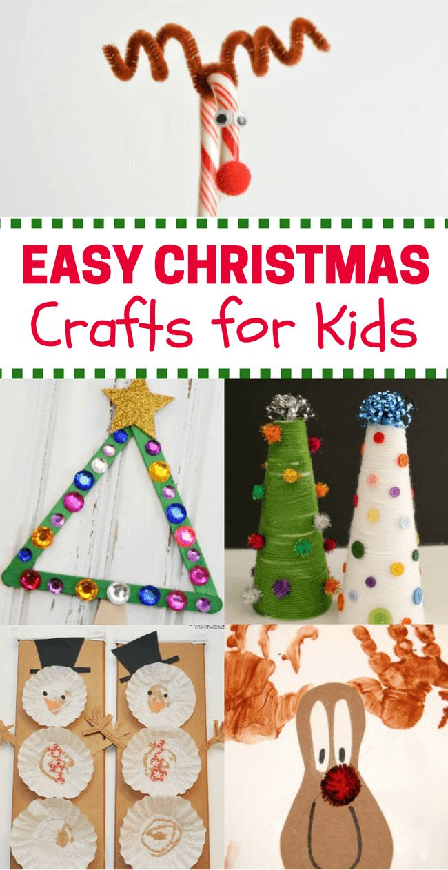 Christmas is right around the corner. What better way to get the little ones in the Christmas spirit than with some easy Christmas crafts for kids?!