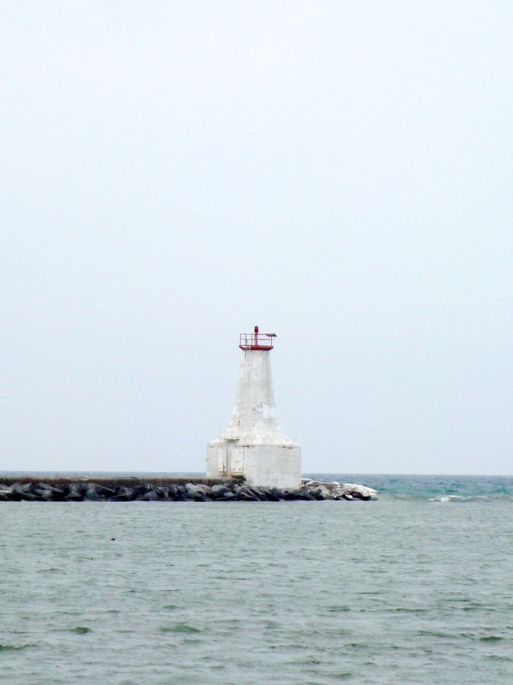 Old lighthouse in Cobourg, Ontario.
