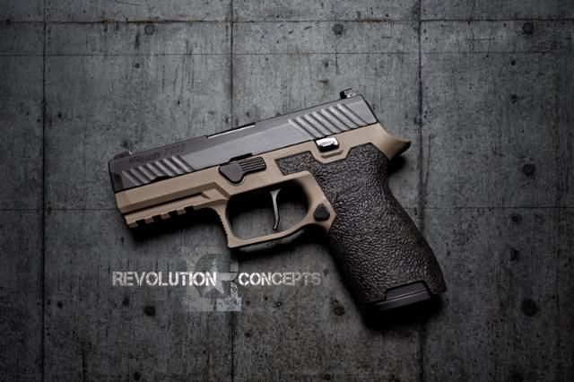 FDE Stippled Grip Modules for sale at Revolution Concepts