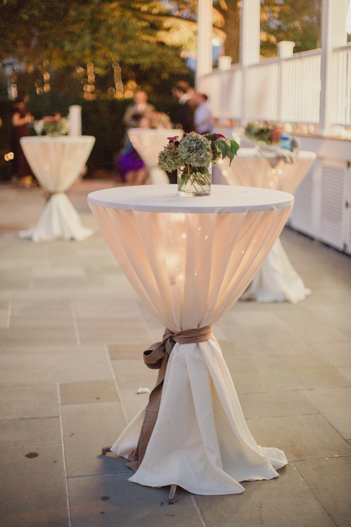 Elegant cocktail tables | Image by Shaun Menary Photography