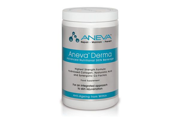 Promising to significantly boost collagen levels in just 6 weeks, the impressive Aneva Derma Nutraceutical Skin Beverage helps to increase skin's volume and elasticity plus it has a pleasant vanilla taste when mixed with water!