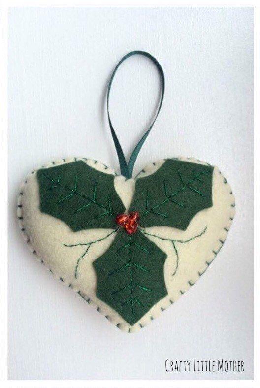 Fieltro Navidad decoraciones  corazones corazones de