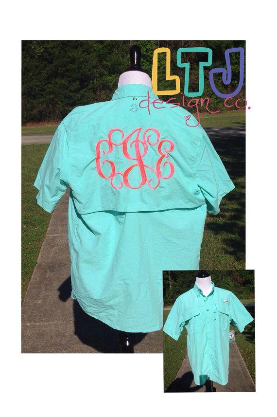 Monogrammed fishing shirt magellan sale sale shirts for Monogrammed fishing shirts