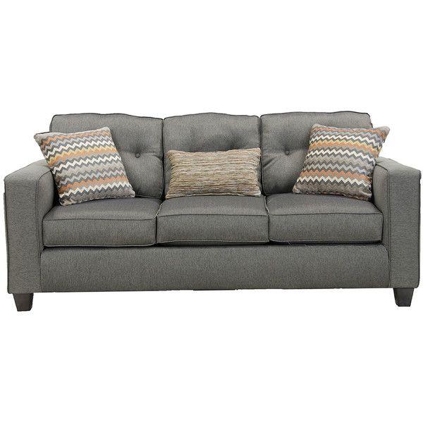 Fandango Mocha Sofa ($599) ❤ liked on Polyvore featuring home, furniture, sofas, light brown sofa, tan sofa, light brown couch, taupe sofa and mocha sofa