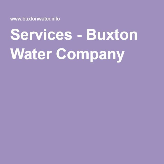 Services - Buxton Water Company
