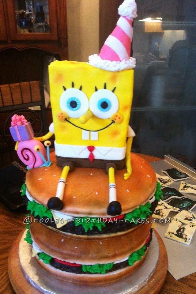 Spongebob Birthday Cake Design : 17 migliori immagini su sponge Bob cake & more su ...