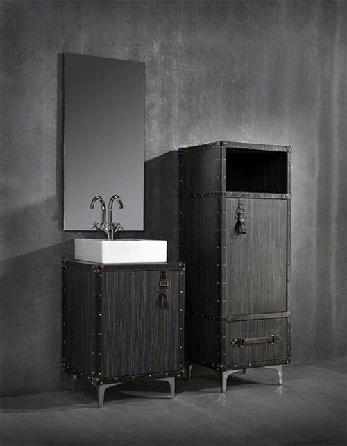 Best Dark Bathrooms Images On Pinterest - Travel bag for bathroom items for bathroom decor ideas