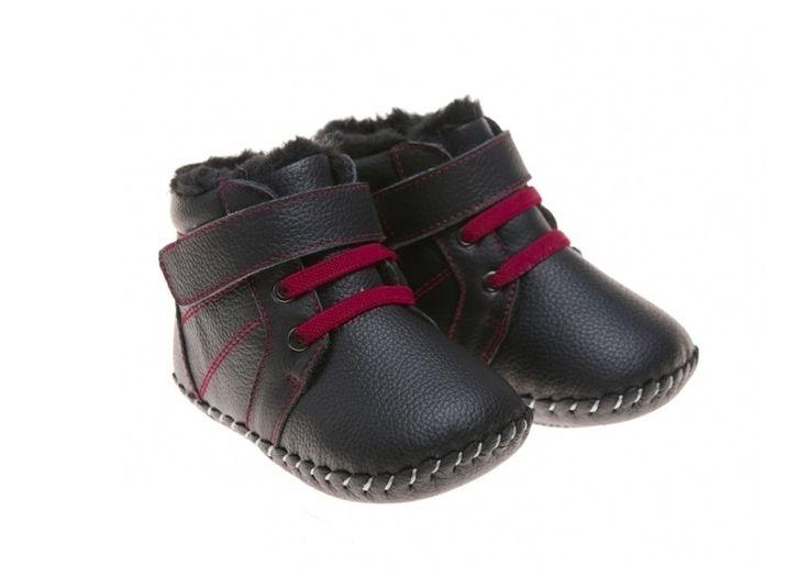 Dětská obuv : Little Blue Lamb Bubu Black
