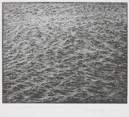 Vija Celmins  Ocean Surface Wood Engraving 2000