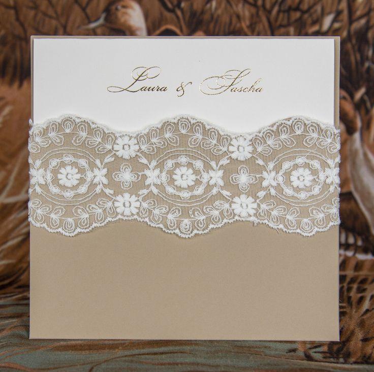 Exklusive Hochzeitskarten online kaufen - Der Moment - handgemachte Einladungskarten