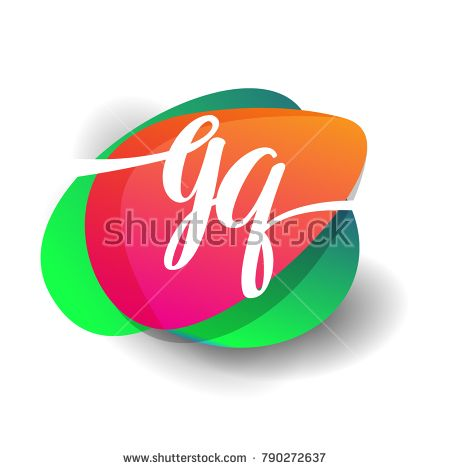 Letter GQ logo with colorful splash background, letter combination logo design for creative industry, web, business and company.