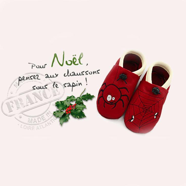 Noël approche à grand pas. idée cadeau : Les chaussons Tom et Lumi en cuir écologique, fait main et de fabrication française. Ils dureront bien plus longtemps que les chaussons traditionnels!