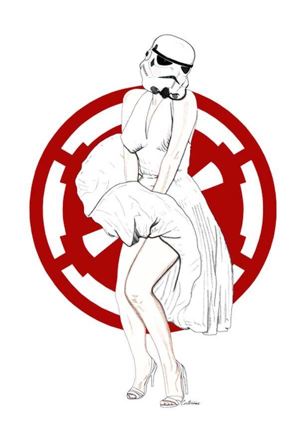 """""""Pin-Up girls and Stormtroopers"""" nennt sich die Serie von Illustrationen vonCisternas. via."""