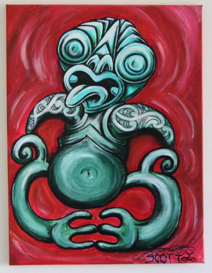 Original Maori Hei Tiki   maori tiki by scottyleesmith