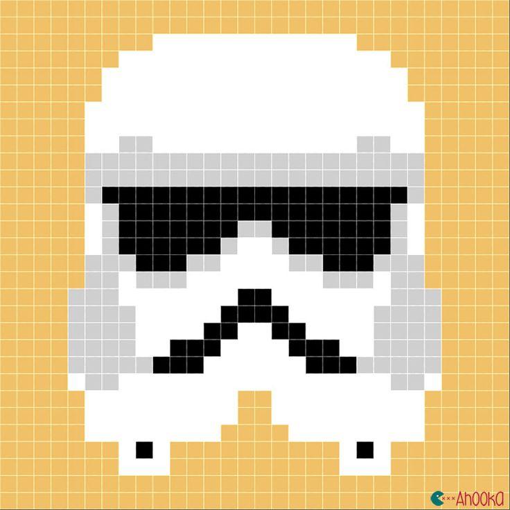 Star Wars crochet blanket : free charts and explanations !   Ahookamigurumi New clones