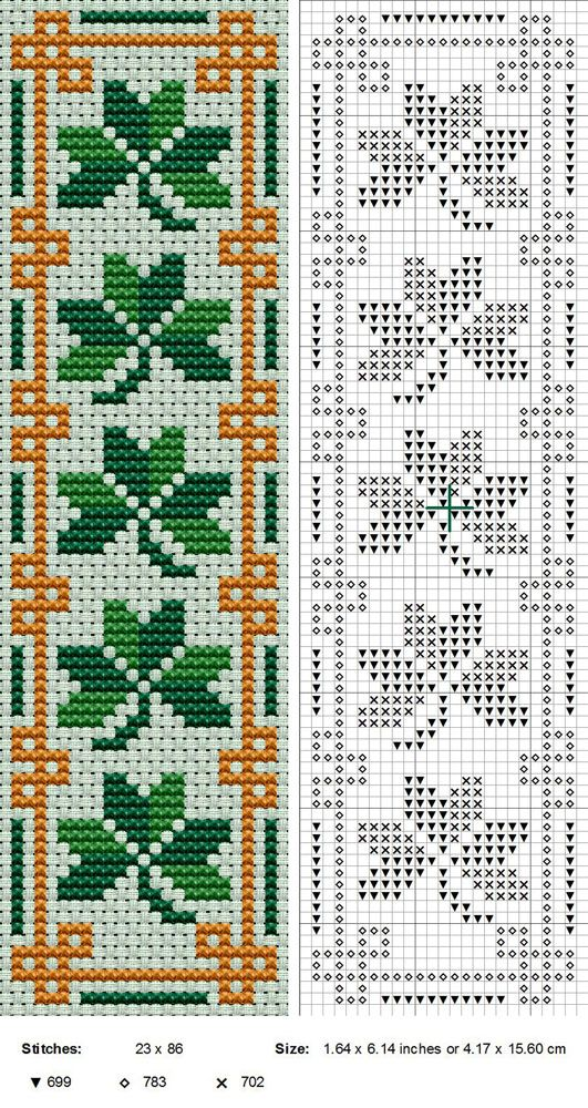 Clover cross stitch pattern