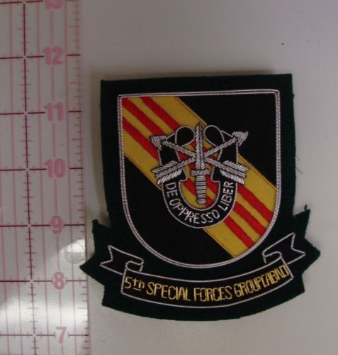 5th Special Forces Group Vietnam Bullion Pocket Patch ...