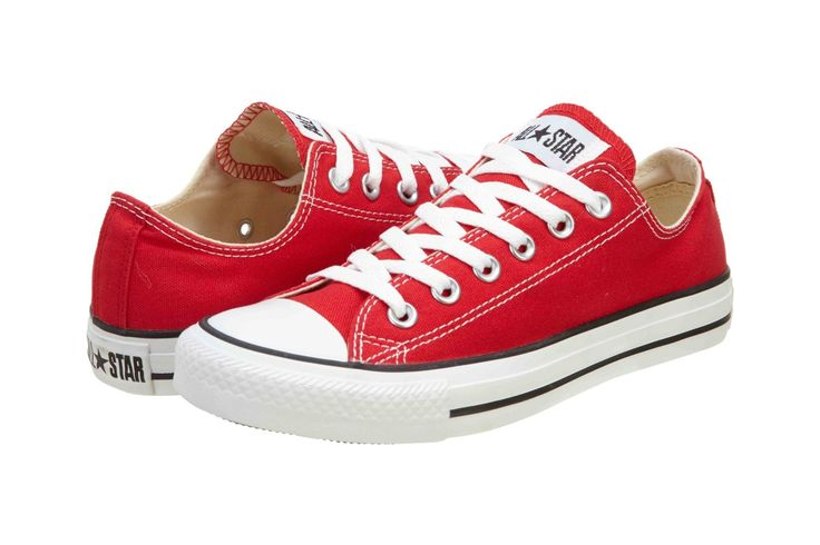 Amazon.com: Converse Chuck Taylor All Star Shoes (M9696) Low Top in Red: Shoes