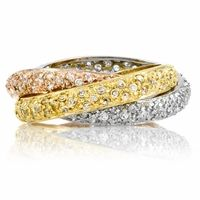 Designer Inspired Pave Trinity Rolling Ring I'm not sure which I love more these or the more plain bands?