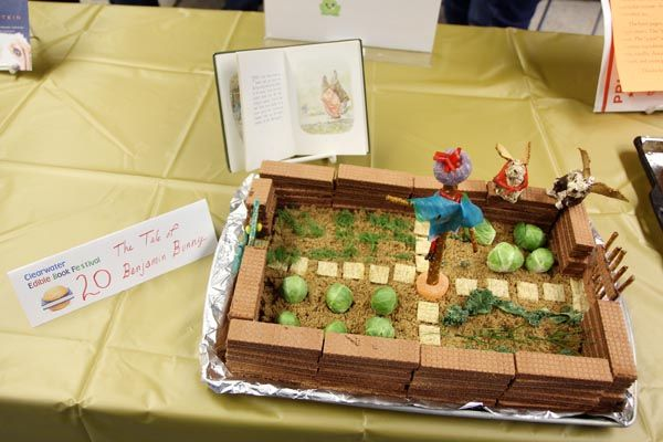 On Saturday, February 15th the Clearwater Edible Book Festival took place at the Eau Claire Public Library. Prizes were awarded in each category (individual adult, teen or teen group, family, food professional, or library staff). Entries must have b
