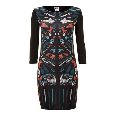 Vero Moda Fenna 3/4 Sleeve Printed Dress