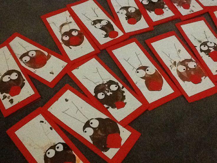 Potato print Rudolph reindeer craft for kids