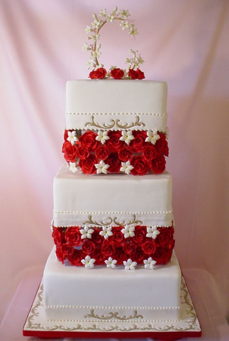 Best Wedding Cakes Images On Pinterest Ivory Wedding Cake