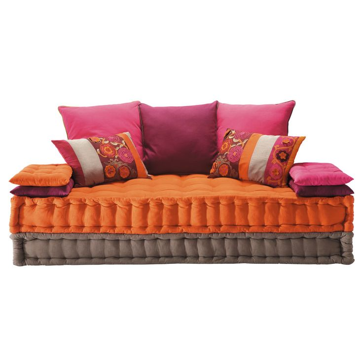 2/3 seater cotton day bed, multicoloured Bolchoï