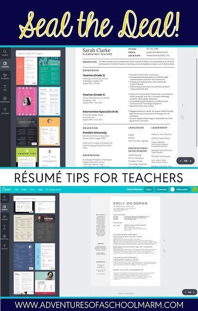 45 best teacher resumes images on pinterest teacher resumes