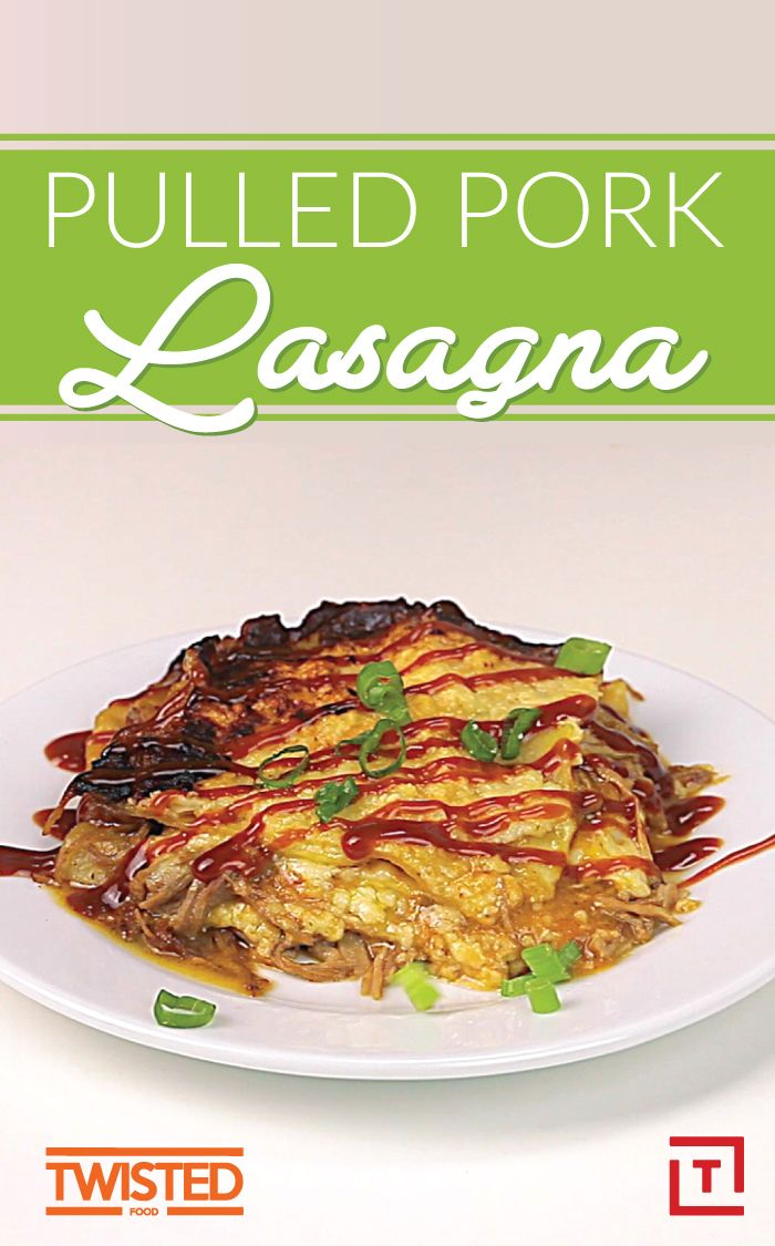 We didn't think lasagna could get any better, but Twisted proved us wrong with this pulled pork lasagna recipe that's leaving us speechless. Slow roasted pulled pork, pasta, fresh mozzarella, and parmesan make for a lasagna that's better than your mamas.