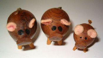 houten varkens te koop uit Fräncis' VarkensCollectie voor 6,98 euro - 3 stuk