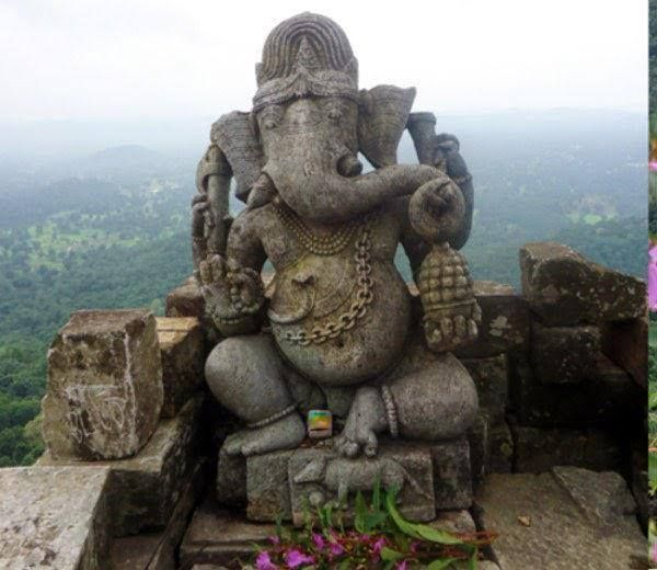 1000 year old Ganesha discovered in Dholkal, Bastar, Chattisgarh. Found atop a mountain surrounded by dense forest