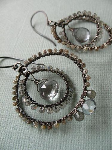 Gossamer Dream Earrings by green bee studio, via Flickr - i feel like i've pinned these before...