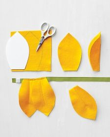 Flower petal template for costume