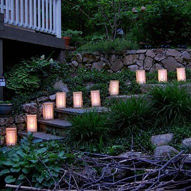 Possibly on Mich League central stairway - Remote Control LED Luminaria Kit- Gold Lantern 10 Count :