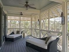 sleeping porch off master suite - Hooked on Houses