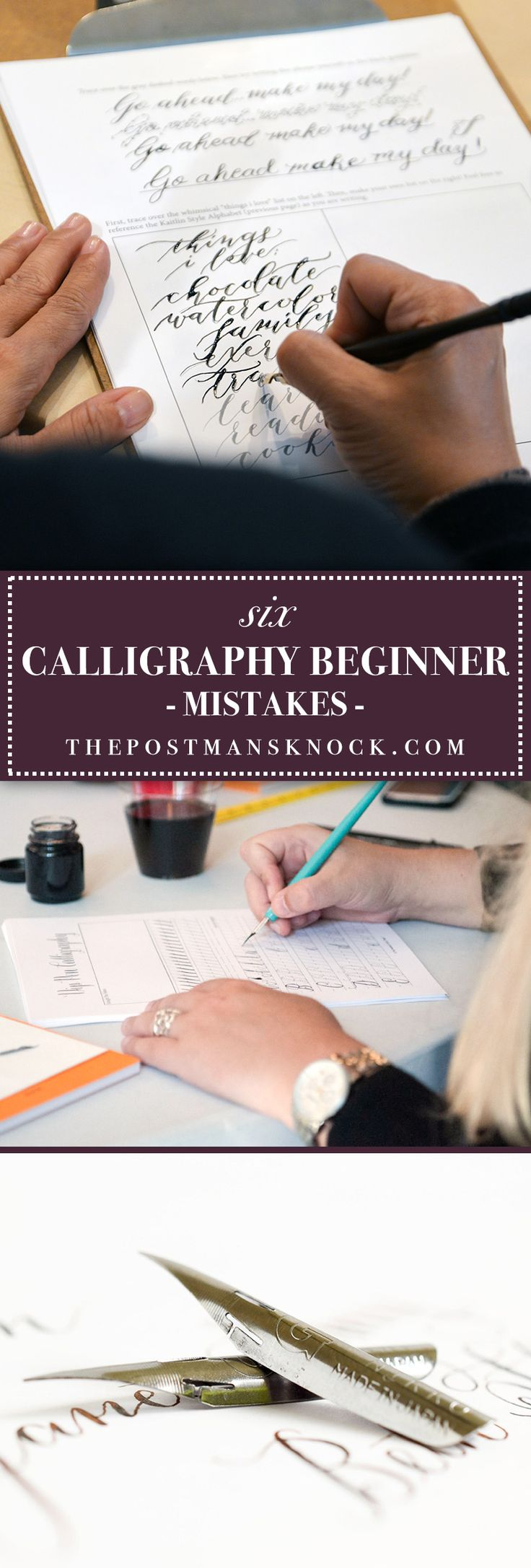 Calligraphy beginners will find this post to be very helpful! It covers some of the pitfalls that those who are unfamiliar with using a dip pen can run into.