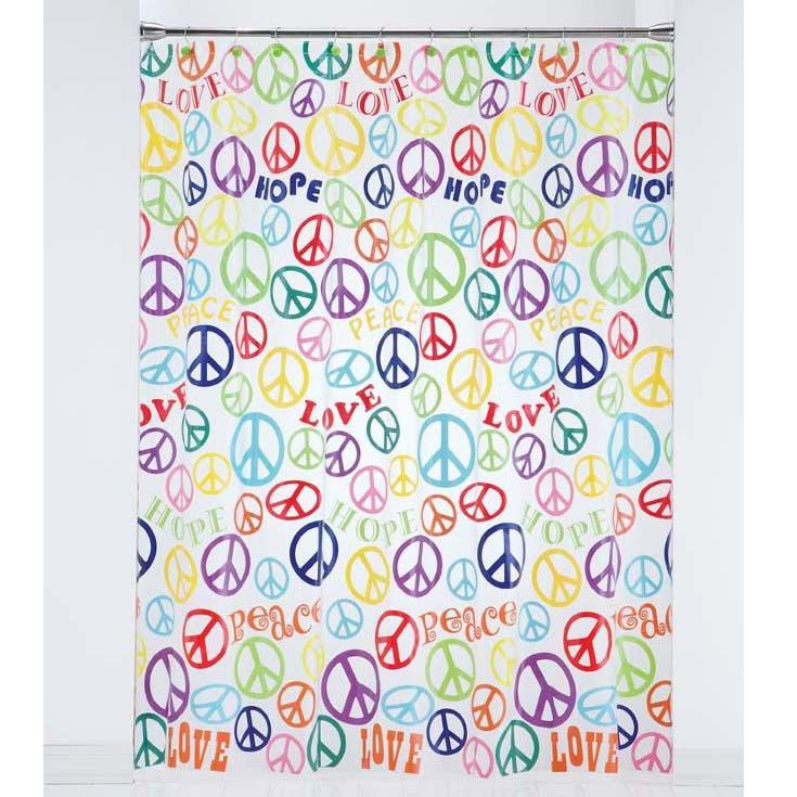 Wonderful Add A Fun Accent To Your Bathroom With This Peace Sign Shower Curtain.