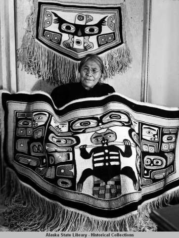 Mary Willard (Klukwan), Chilkat Blanketry, 5-3-46. :: Alaska State Library-Historical Collections